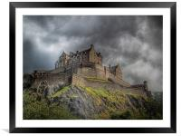 Edinburgh Castle Scotland, Framed Mounted Print