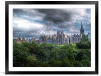 Edinburgh Skyline, Framed Mounted Print