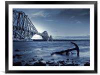 Forth Rail Bridge Scotland, Framed Mounted Print