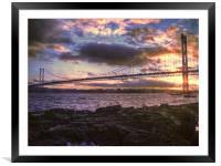 Forth Road Bridge Scotland, Framed Mounted Print