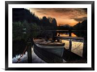Golden Sunset over Loch Ard, Framed Mounted Print