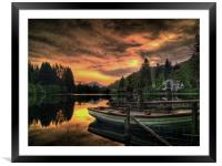 Spring Sunset Loch Ard, Framed Mounted Print