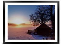 Sunburst Over Loch Ard, Framed Mounted Print