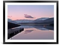 Winters Sunset On Loch Leven, Framed Mounted Print