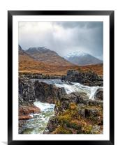 Winter Over The River Etive, Framed Mounted Print