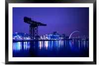The River Clyde At Night., Framed Mounted Print