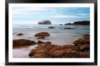 Bass Rock, Framed Mounted Print