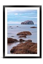 The Bass Rock, Framed Mounted Print