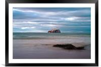 The Bass Rock from Seacliff, Framed Mounted Print