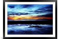 Troon Beach, Reflections, Framed Mounted Print