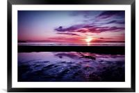 Troon Beach, Ripples, Framed Mounted Print