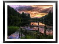 Loch Ard, Scotland, Framed Mounted Print
