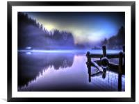 Misty Blues, Framed Mounted Print