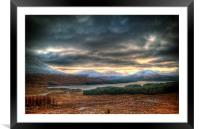 Winters Sun Over Loch Tulla, Framed Mounted Print