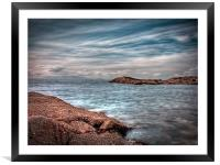 Isle of Arran from Troon, Framed Mounted Print