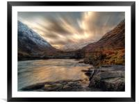 Dusk On The River Etive., Framed Mounted Print