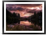 Loch Ard, Summer Glow, Framed Mounted Print