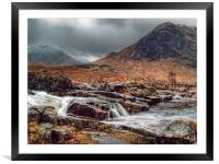 The River Etive Scotland, Framed Mounted Print