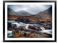 River Etive, Framed Mounted Print