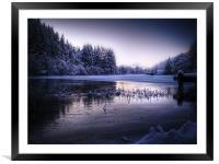 Loch Ard, Frozen In Time., Framed Mounted Print
