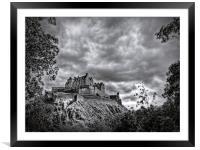 Edinburgh Castle Scotland, Framed Mounted Print