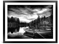 Loch Ard Scotland, Framed Mounted Print