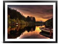 Loch Ard Reflections, Framed Mounted Print
