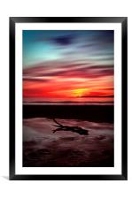 Sunset Over Troon Beach, Framed Mounted Print