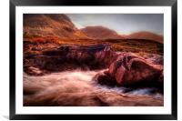 Glen Etive, Framed Mounted Print