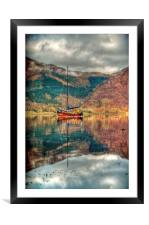 Boat On Loch Leven, Framed Mounted Print