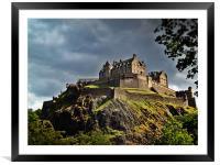 Edinburgh Castle, Scotland., Framed Mounted Print
