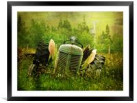 Tractor Tears, Framed Mounted Print