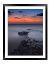 Rocky Shores Of Agios Georgios, Framed Mounted Print