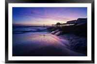 Blue dawn over Southwold Pier, Framed Mounted Print