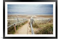 Slope to Holkham Beach, Framed Mounted Print