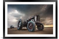 Tractor at Overstrand, Framed Mounted Print
