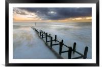 Overstrand sunrise, Framed Mounted Print