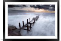 Grey Dawn at Overstrand, Framed Mounted Print