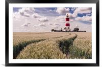Tracks to Happisburgh Lighthouse, Framed Mounted Print