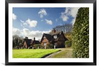 Thatched cottages on Woodbastwick  Village Green, Framed Mounted Print