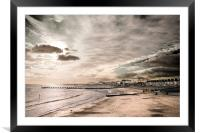 Lowestoft Central Beach, Framed Mounted Print