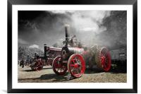 Steaming, Framed Mounted Print