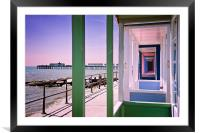 Pier view, Framed Mounted Print