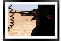 'Shooting the desert'', Framed Mounted Print