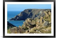 Cornish Cliffs, Framed Mounted Print
