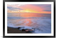 smoke on the water, Framed Mounted Print