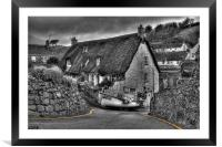 Boat in a road., Framed Mounted Print