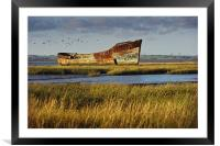 Rotting Hulk on the Medway, Framed Mounted Print