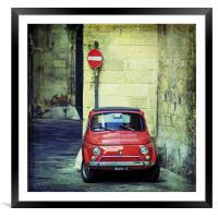 Baby Fiat, Framed Mounted Print