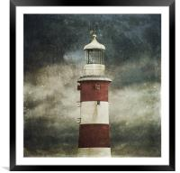 Lighthouse, Framed Mounted Print